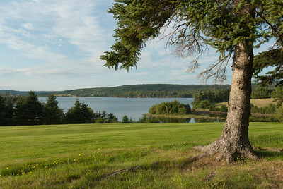 Overlooking view of the Guysborough Harbour in Guysborough, Nova Scotia