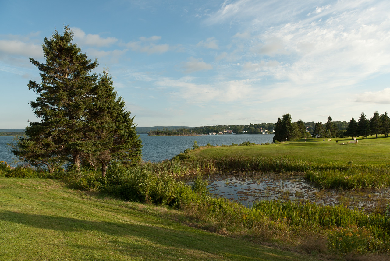 View of the Guysborough Harbour in Guysborough, Nova Scotia