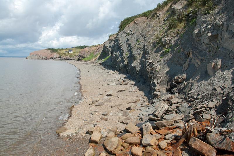 Shoreline near the Joggins Fossil Cliffs in Nova Scotia
