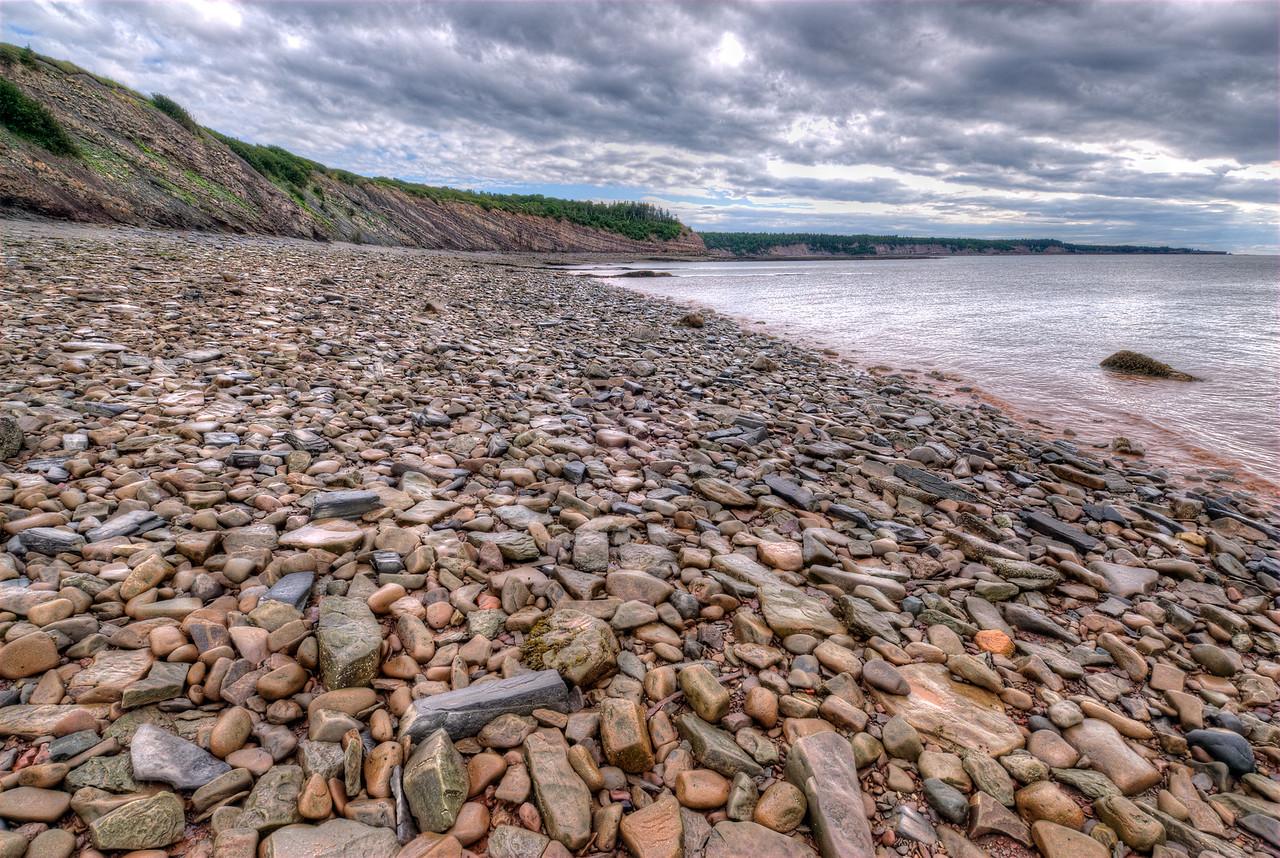 View of the Joggins Fossil Cliffs in Nova Scotia