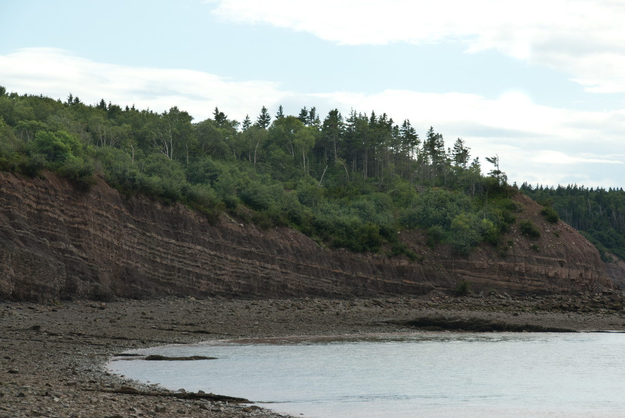 View of the Joggins Fossil Cliffs in Nova Scotia