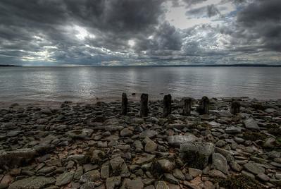 Shore of Bay of Fundy near Joggins Fossil Cliffs, Nova Scotia