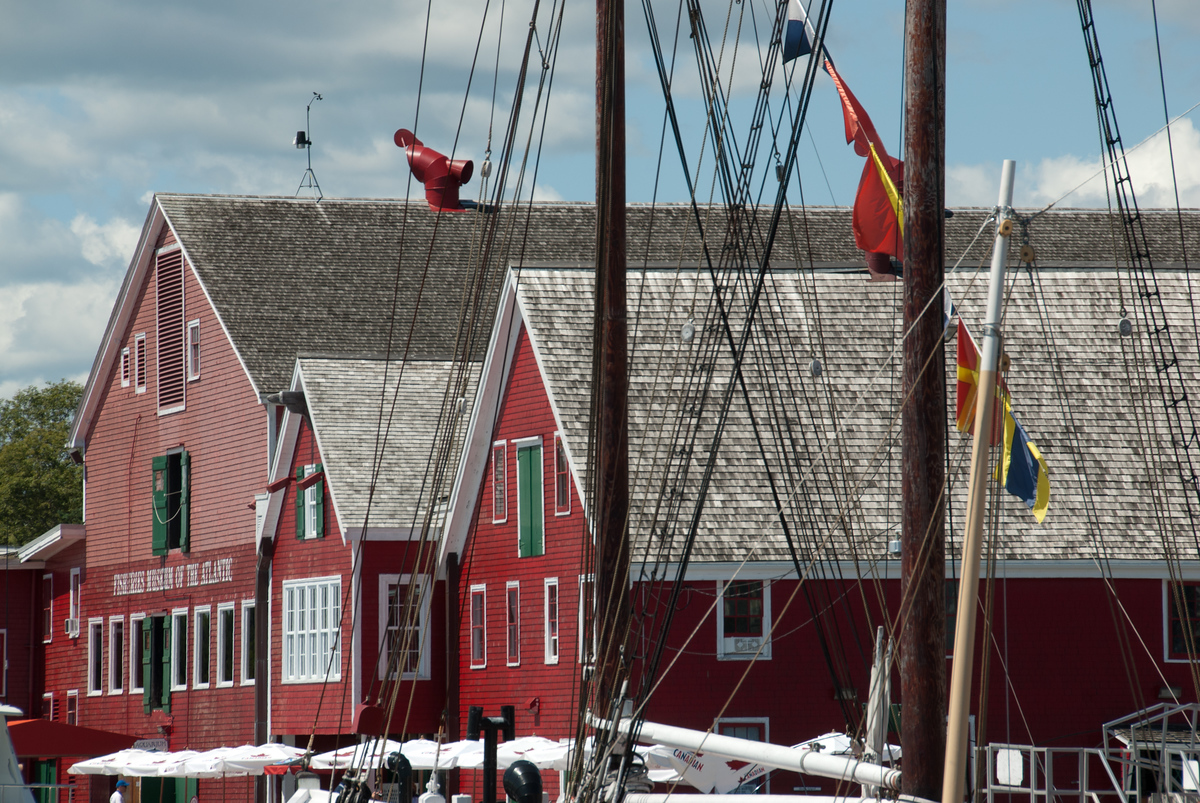 Harbor Buildings in Lunenburg, Nova Scotia