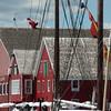 Harbor buildings in                                       Lunenburg, Nova Scotia