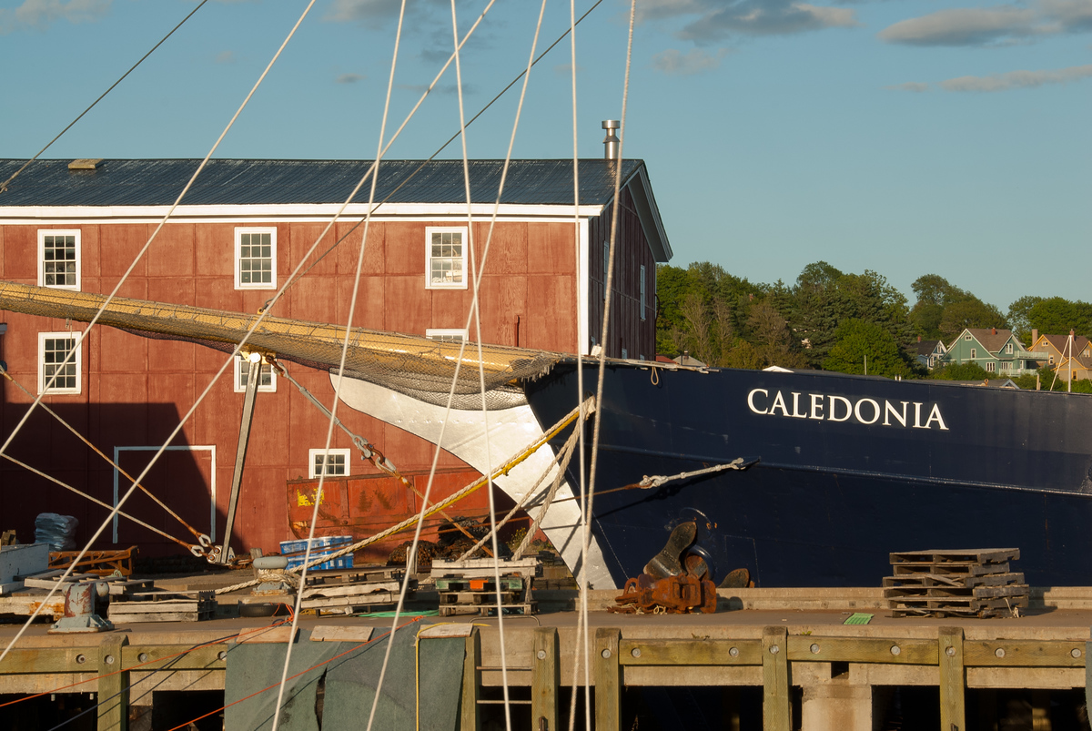 The harbor at the old town of  Lunenburg, Nova Scotia