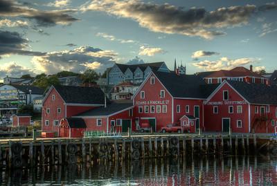 Dock and waterfront in Lunenburg, Nova Scotia