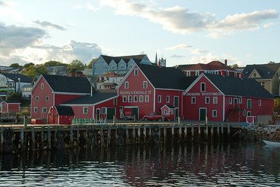 Dock and waterfront in Lunenburg, Nova Scotia