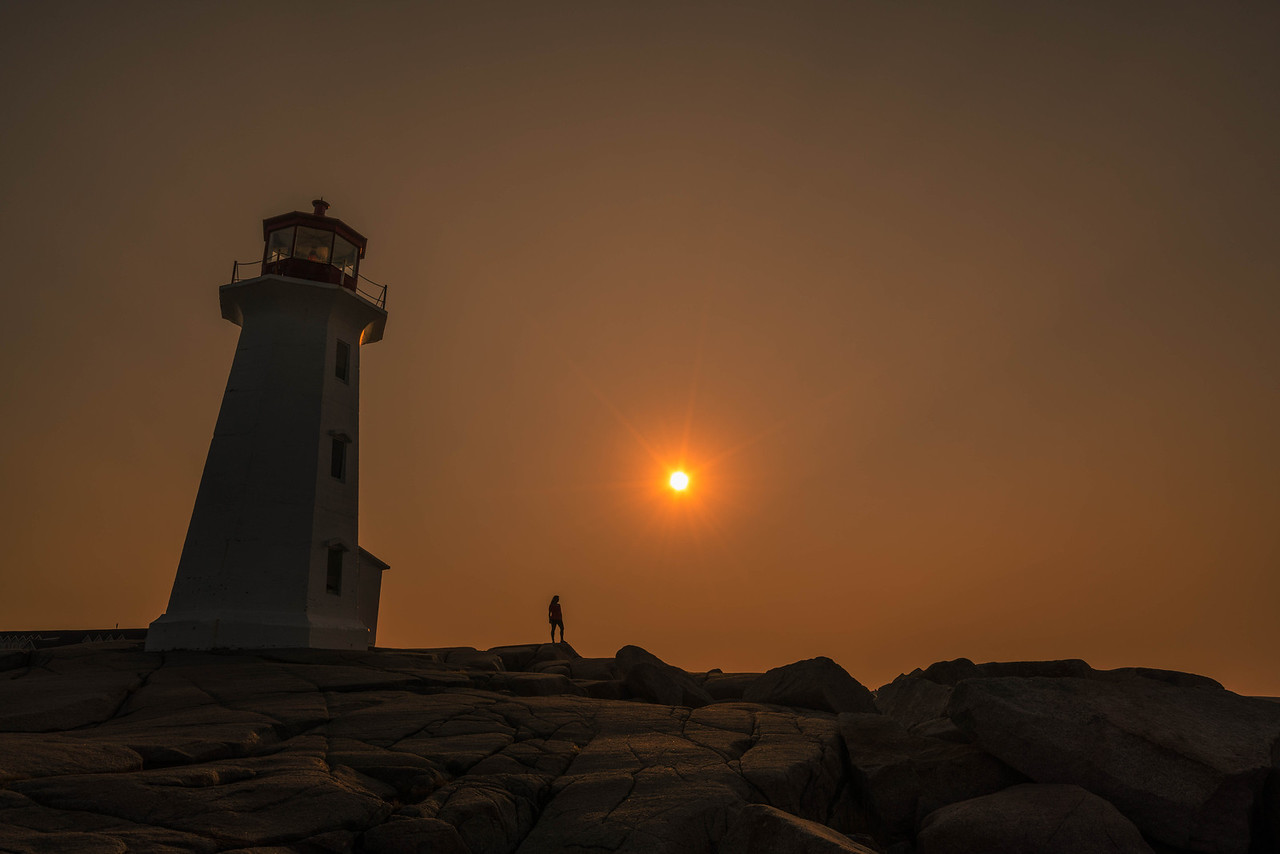 Sunrise at Peggy's Cove