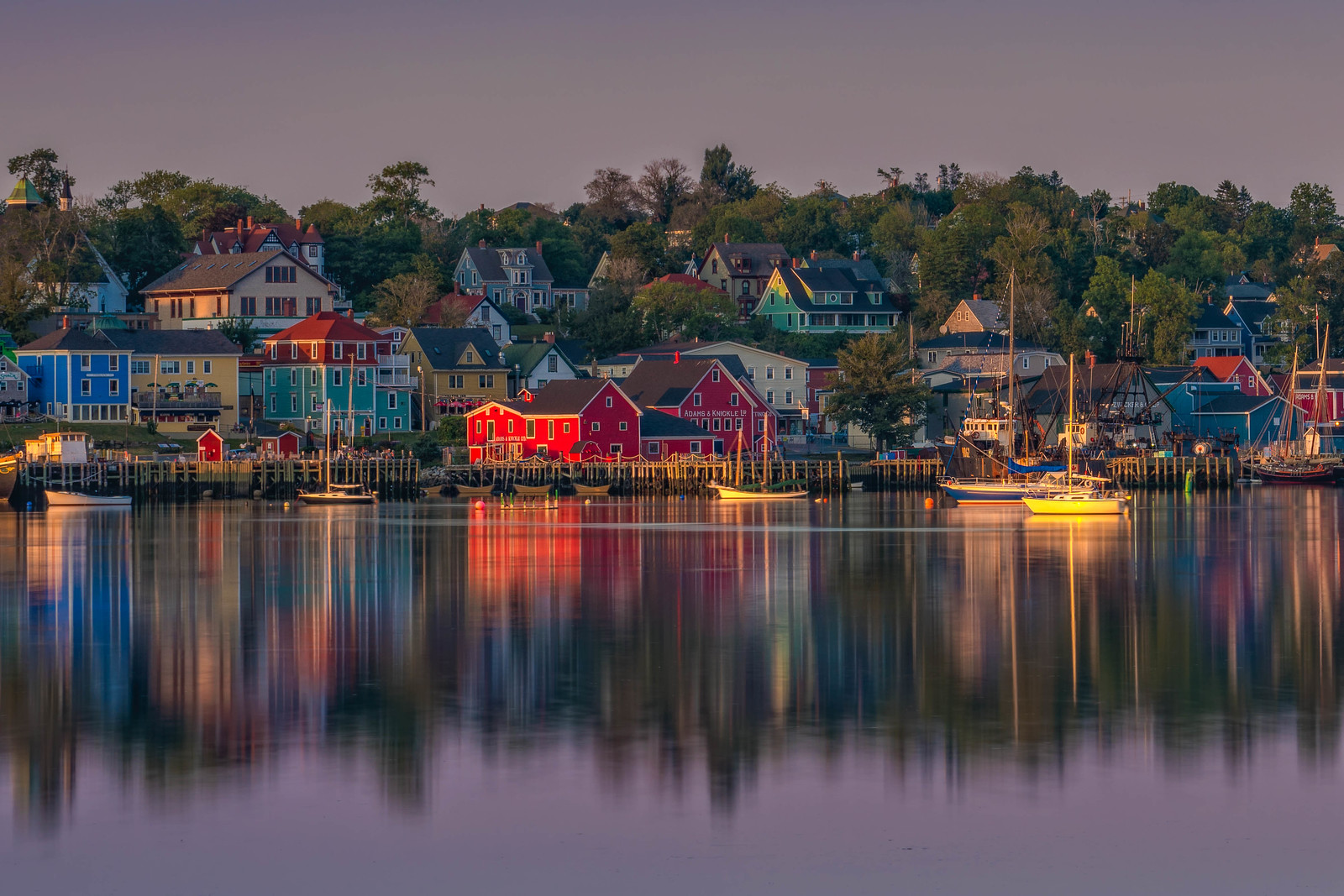 The town of Lunenberg, Nova Scotia