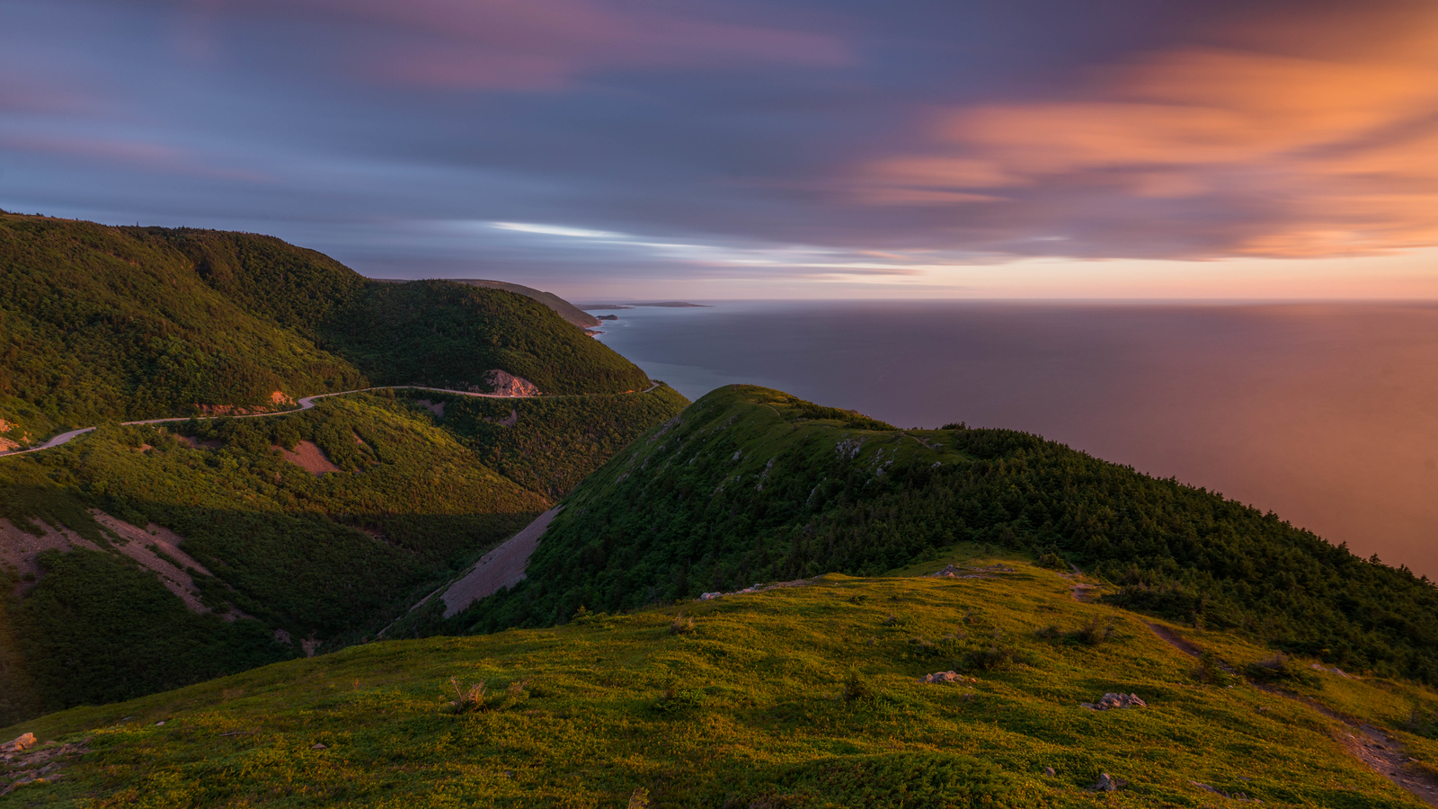 Sunset in Cape Breton, Nova Scotia, Canada