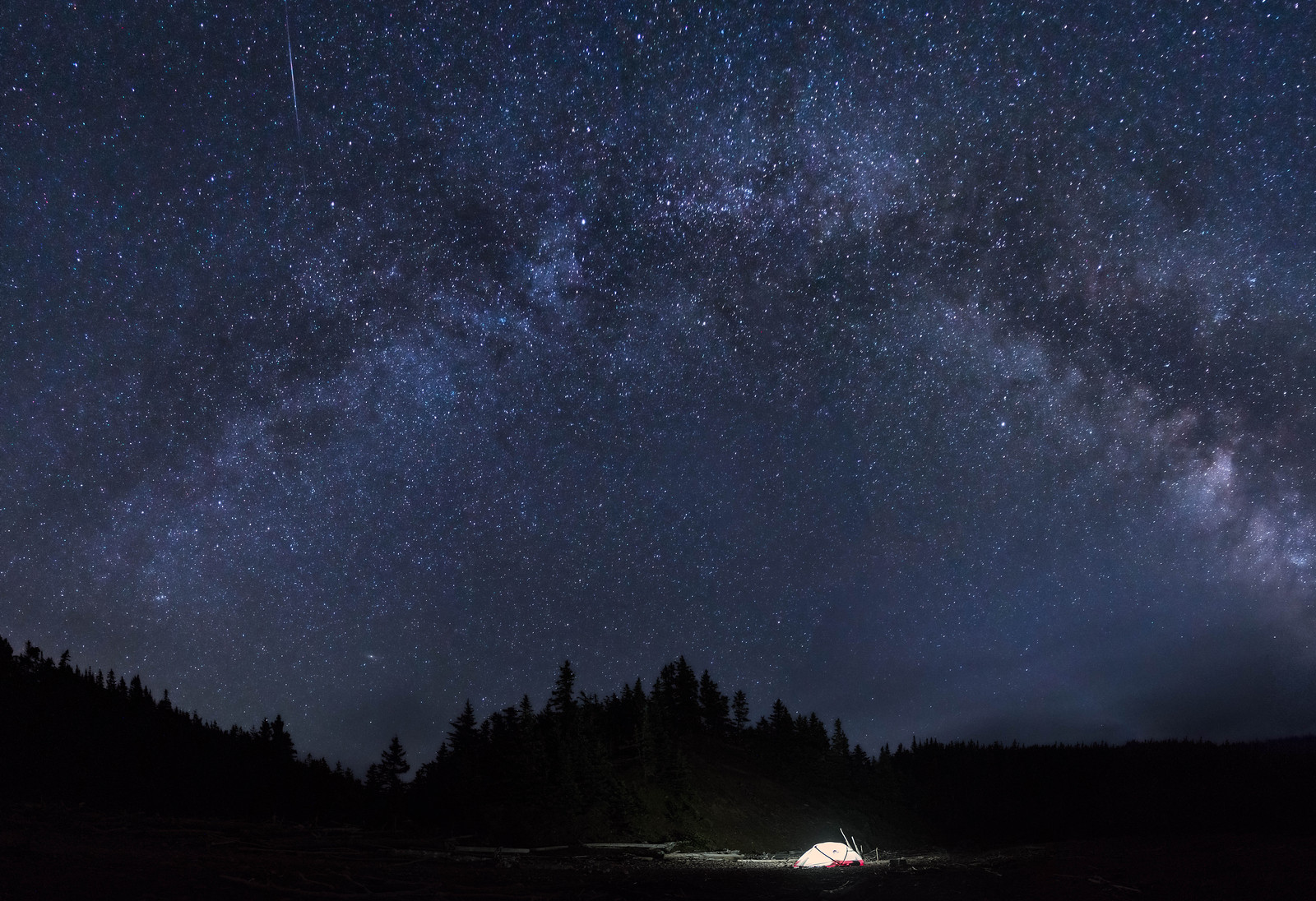 Camping under the stars on the Bay of Fundy.