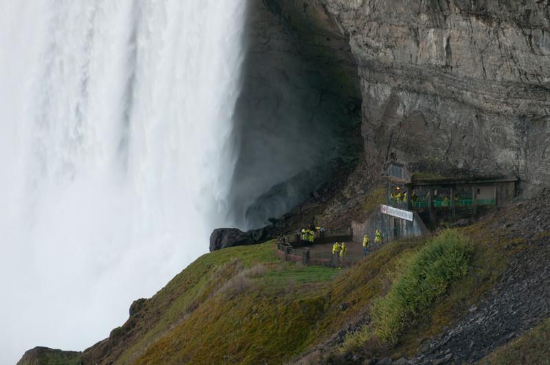 Workers near the Niagara Falls in Ontario, Canada