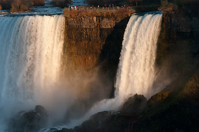 Bridal Falls next to American Falls in Niagara Falls, Ontario, Canada