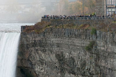 Tourists watching the Niagara Falls in Ontario, Canada