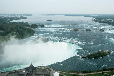 Canadian Horseshoe Falls in Niagara Falls, Ontario, Canada