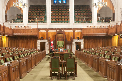 Inside Parliament Hill in Ottawa, Ontario, Canada