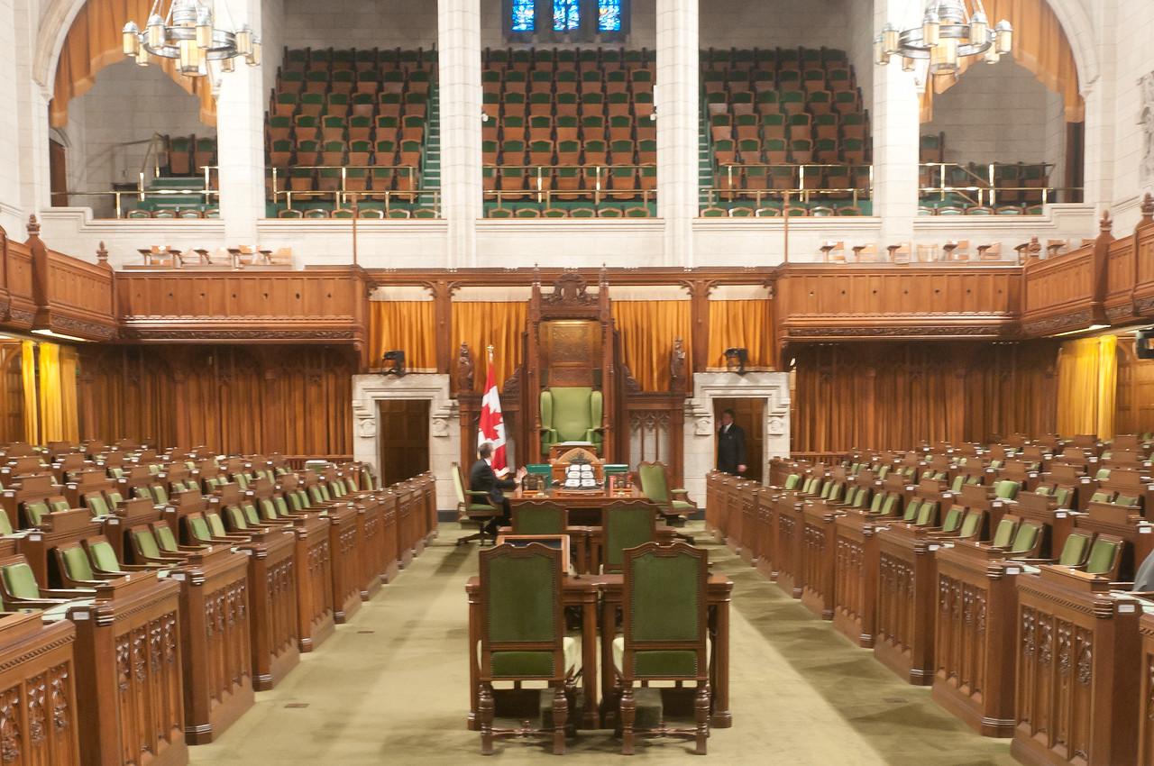 Inside Parliament Hill in Ottawa, Ontario, Canada