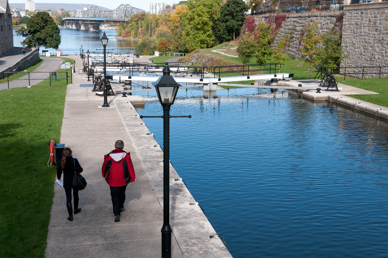 The Rideau Canal in Ottawa, Ontario, Canada