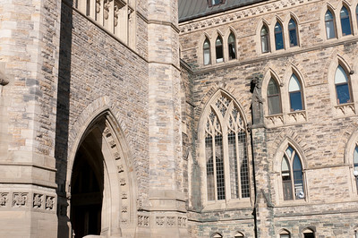 Details of Parliament Hill in Ottawa, Ontario, Canada