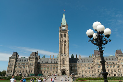 The Centre Block of Parliament Hill in Ottawa, Ontario, Canada