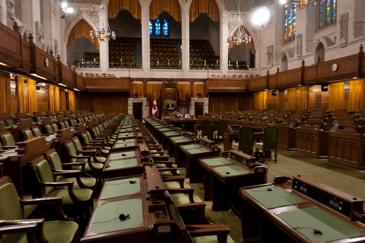 Inside the Parliament Hill in Ottawa, Ontario, Canada