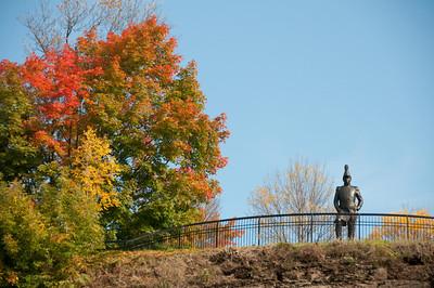 Lieutenant-Colonel John By statue scupted by Joseph-Émile Brunet, Major's Hill Park, Ottawa, Ontario, Canada