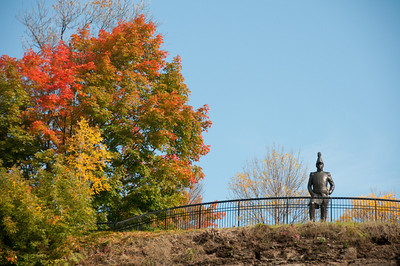 Lieutenant-Colonel John By statue scupted by Joseph-Émile Brunet, Major's Hill Park, Ottawa, Ontario, Canada