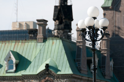 Lamp posts near Parliament Hill in Ottawa, Ontario, Canada