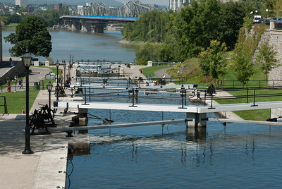 The Rideau Canal near Parliament Hill in Ottawa, Ontario, Canada