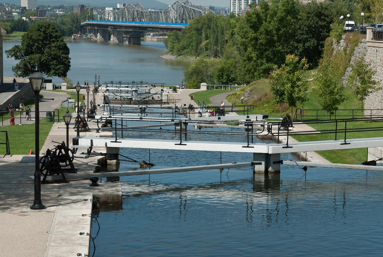 The Rideau Canal near Parliament Hill in Ottawa, Ontario, Canada