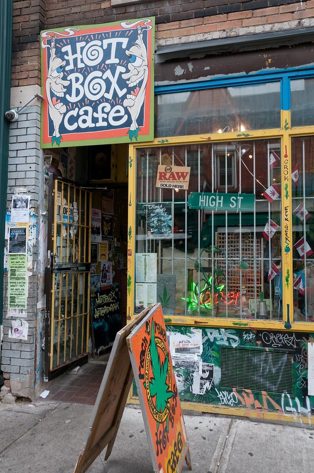 A small cafe in Kensington Market in Toronto, Ontario, Canada