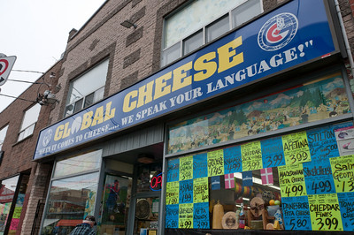 Cheese shop in Kensington Market in Toronto, Ontario, Canada