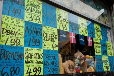 Cheese shop in Kensington Market in Toronto, Ontario, Canada
