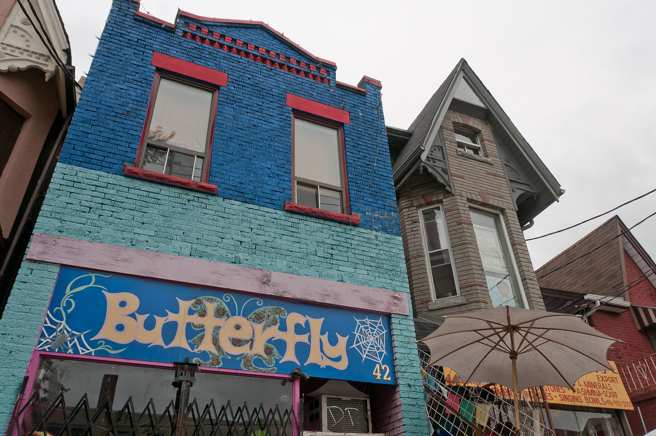 Colorful building in Kensington Market in Toronto, Ontario, Canada