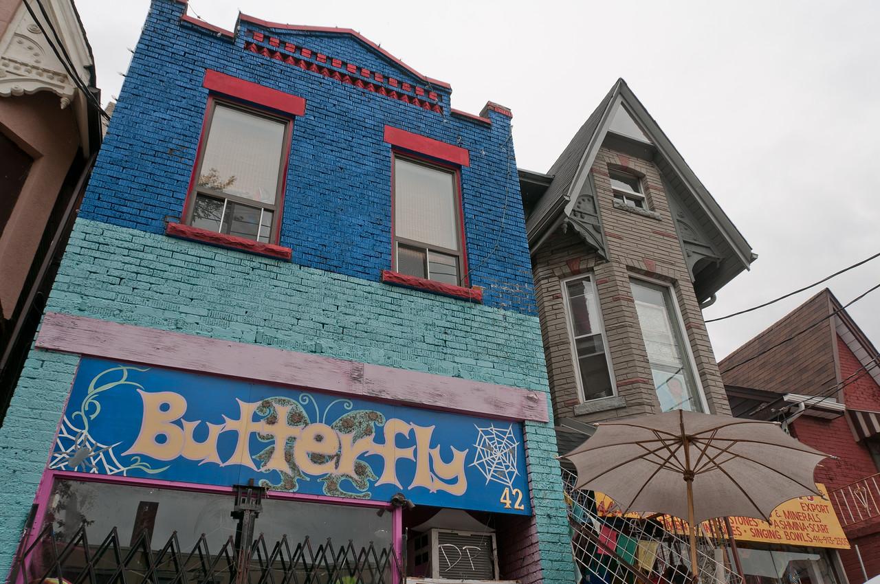 Colorful building in Kensington Market in Toronto, Ontario, Canada