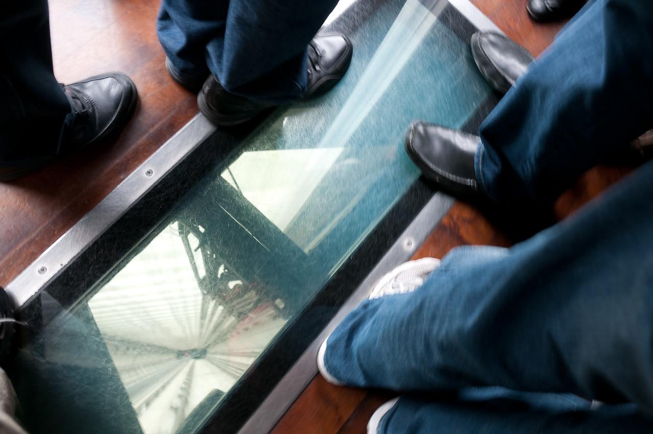 Glass on the floor of elevator - Toronto, Canada