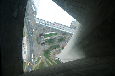 Looking down from the CN Tower in Toronto, Canada