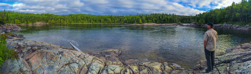 On the rail at Pukaskwa National Park