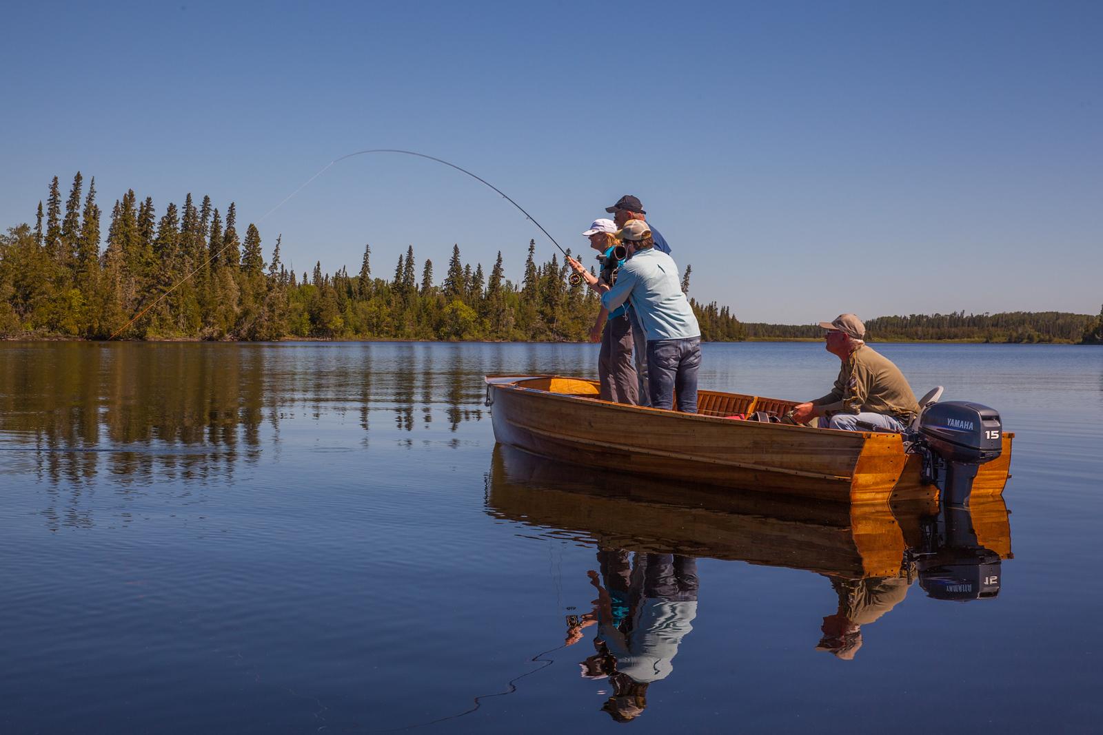 Fish on! Fly Fishing at Timberwolf Lodge