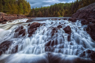 Waterfall Lake Superior Pukaskwa NAtional Park