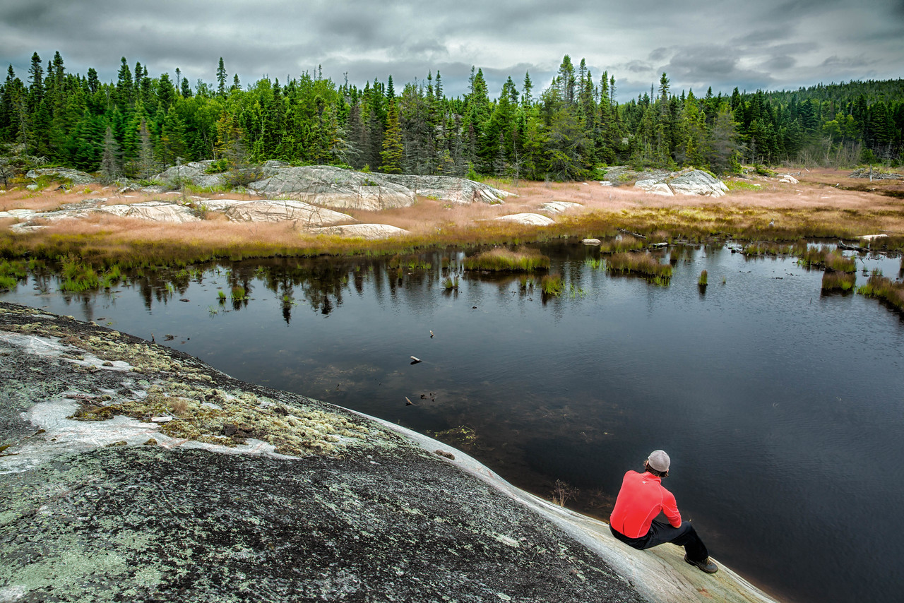 Taking a break at Pukaskwa National Park