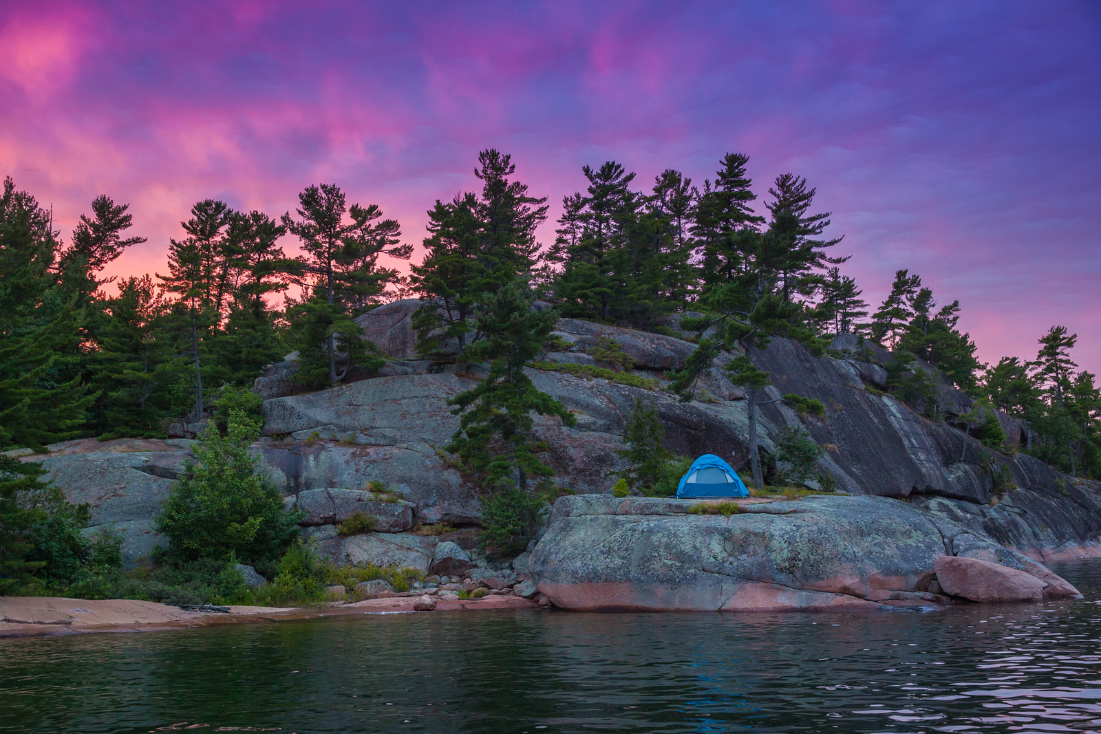 The perfect camping spot on the Benjamin Islands