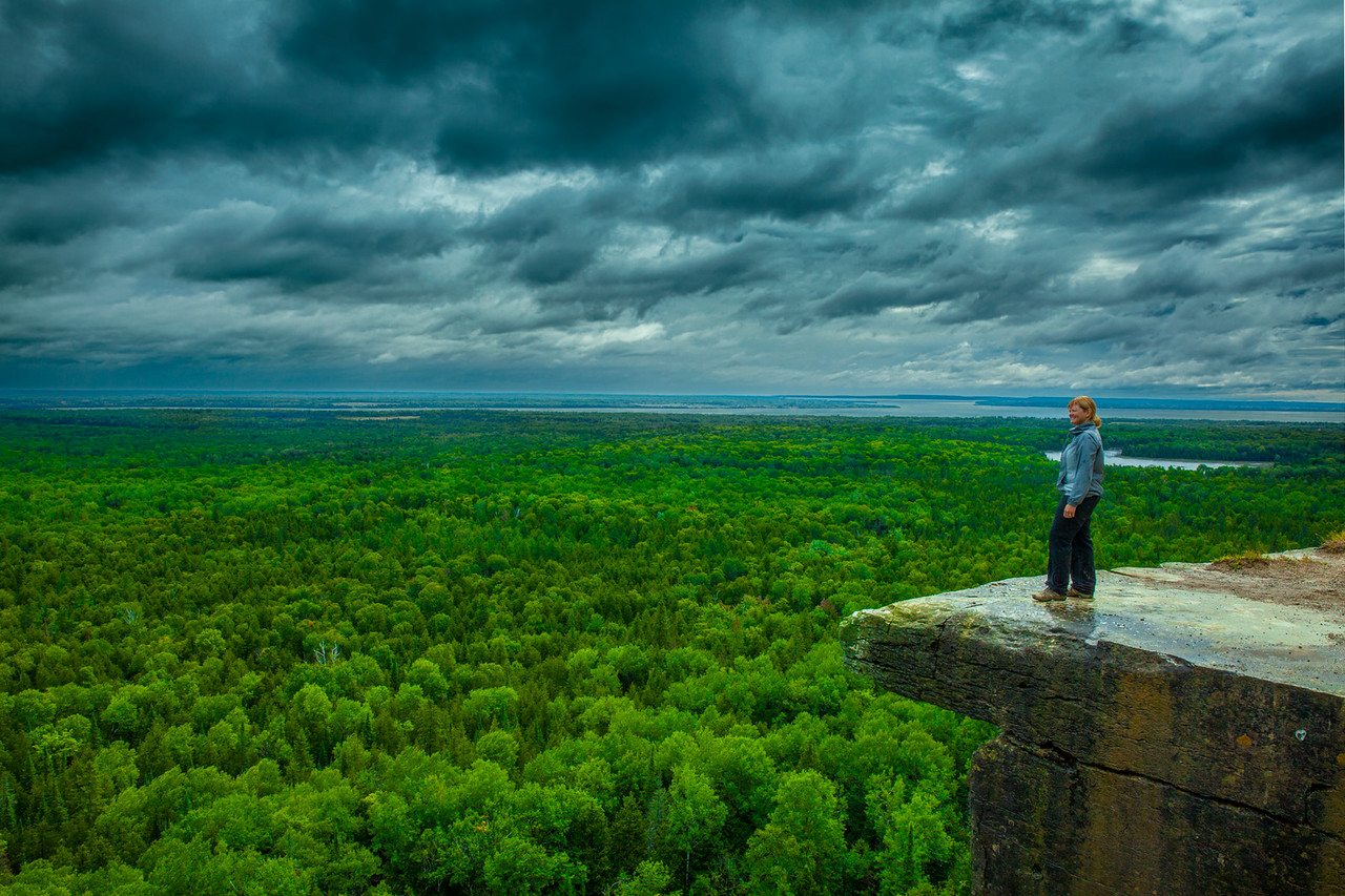 The View from the Cup and Saucer Trail on Manitoulin Island.