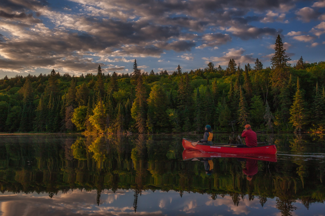 Setting out in our Canoe to look for Moose in Algonquin Park
