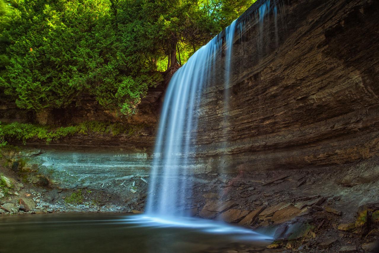 Bridal Veil Falls on Manitoulin Island