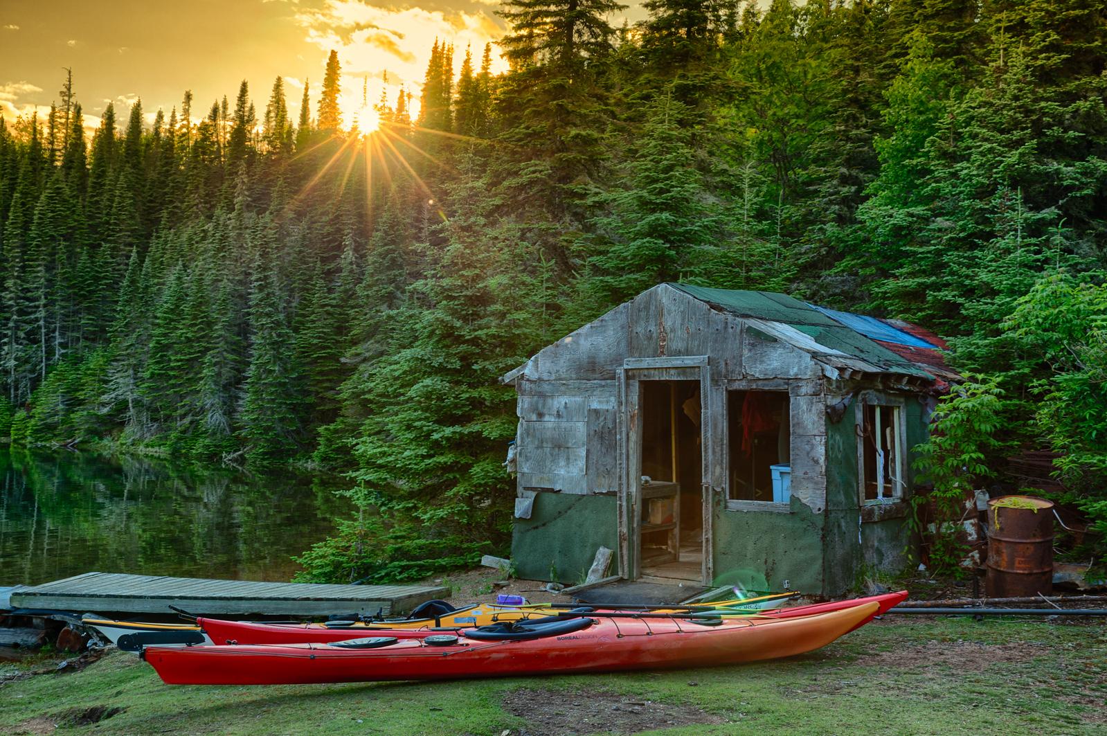 Sunset while Kayaking the Slate Islands on Lake Superior
