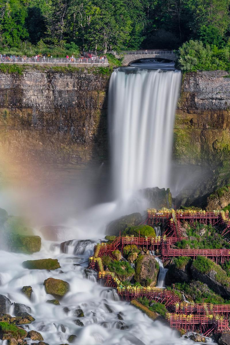Behind the Falls in Niagara Falls, Canada
