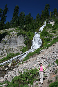 Vidae Falls inside Crater Lake National Park.