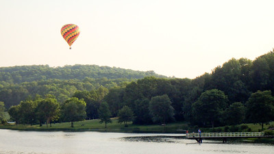 They sometimes launch hot air balloons from the park!