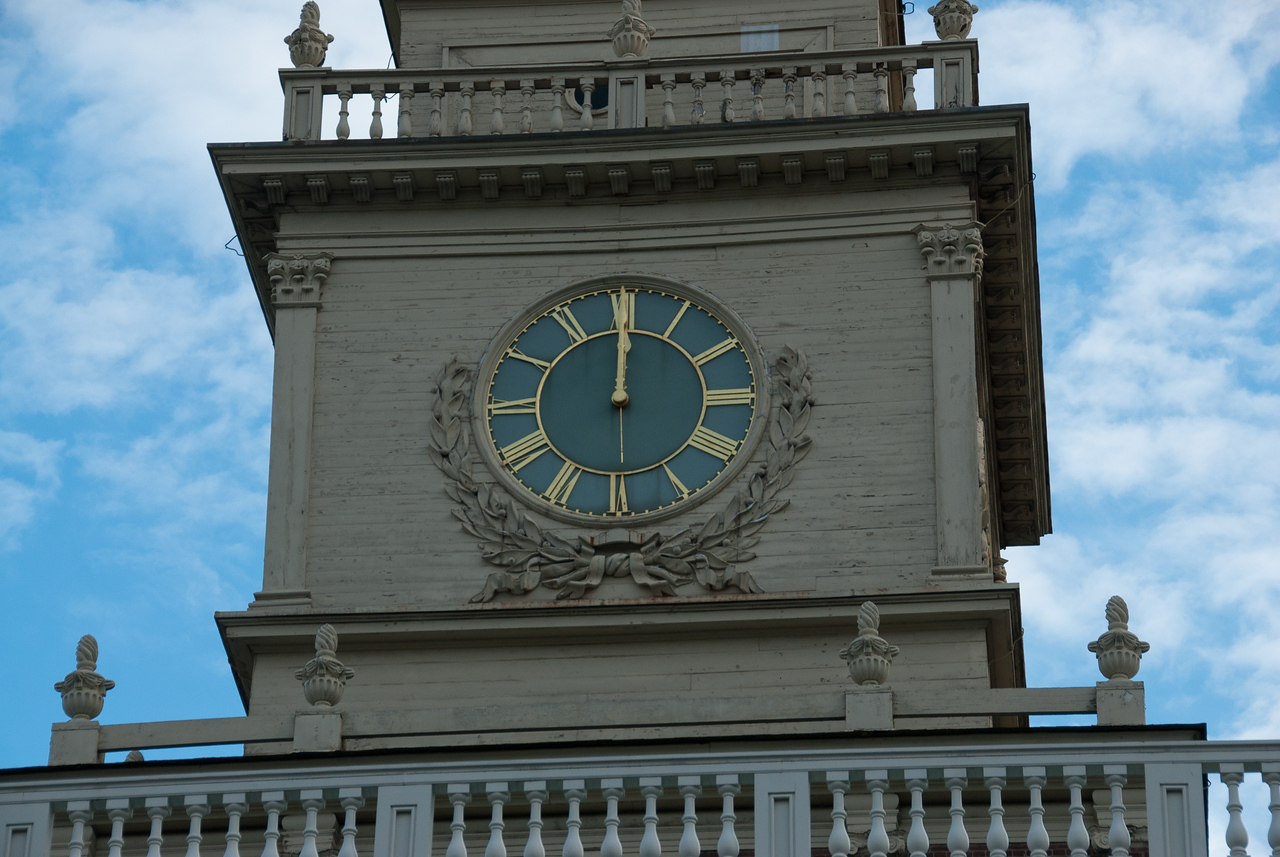 Clock at the Indenpendence Hall in Philadelphia, Pennsylvannia